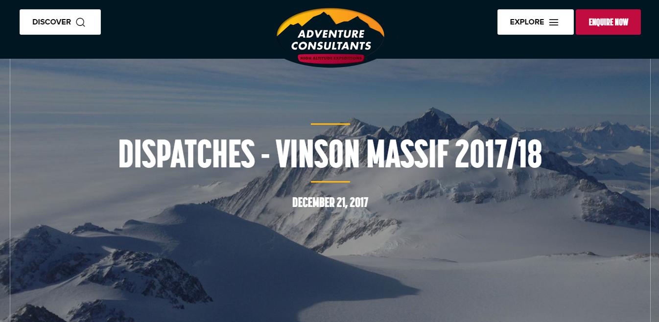 Vinson Massif dispatch | BARAKA